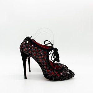 CESARE PACIOTTI Peep Toe Caged Embellished Sandals